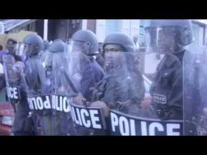Riot Police during Protests in St.Kitts-Nevis