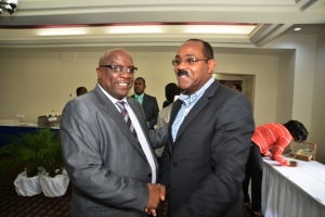St. Kitts and Nevis Prime Minister Dr. Hon. Timothy Harris and The Hon. Gaston Browne, Prime Minister of Antigua and Barbuda