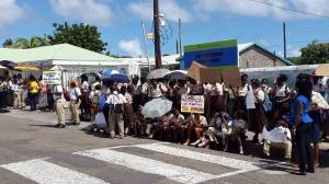 In 2014 Scores of students from St.Kitts-Nevis' largest High School the Basseterre High School staged major protest just outside the school grounds as pictured