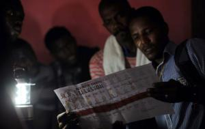 Election officials count ballots at a school in Port-au-Prince, Haiti  Aug. 9 2015. Hector Retamal-AFP-Getty Images