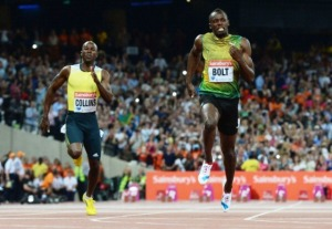 Kim_Collins_left_finished_fourth_in_the_100m_at_the_London_Anniversary_Games_behind_winner_Usain_Bolt_of_Jamaica